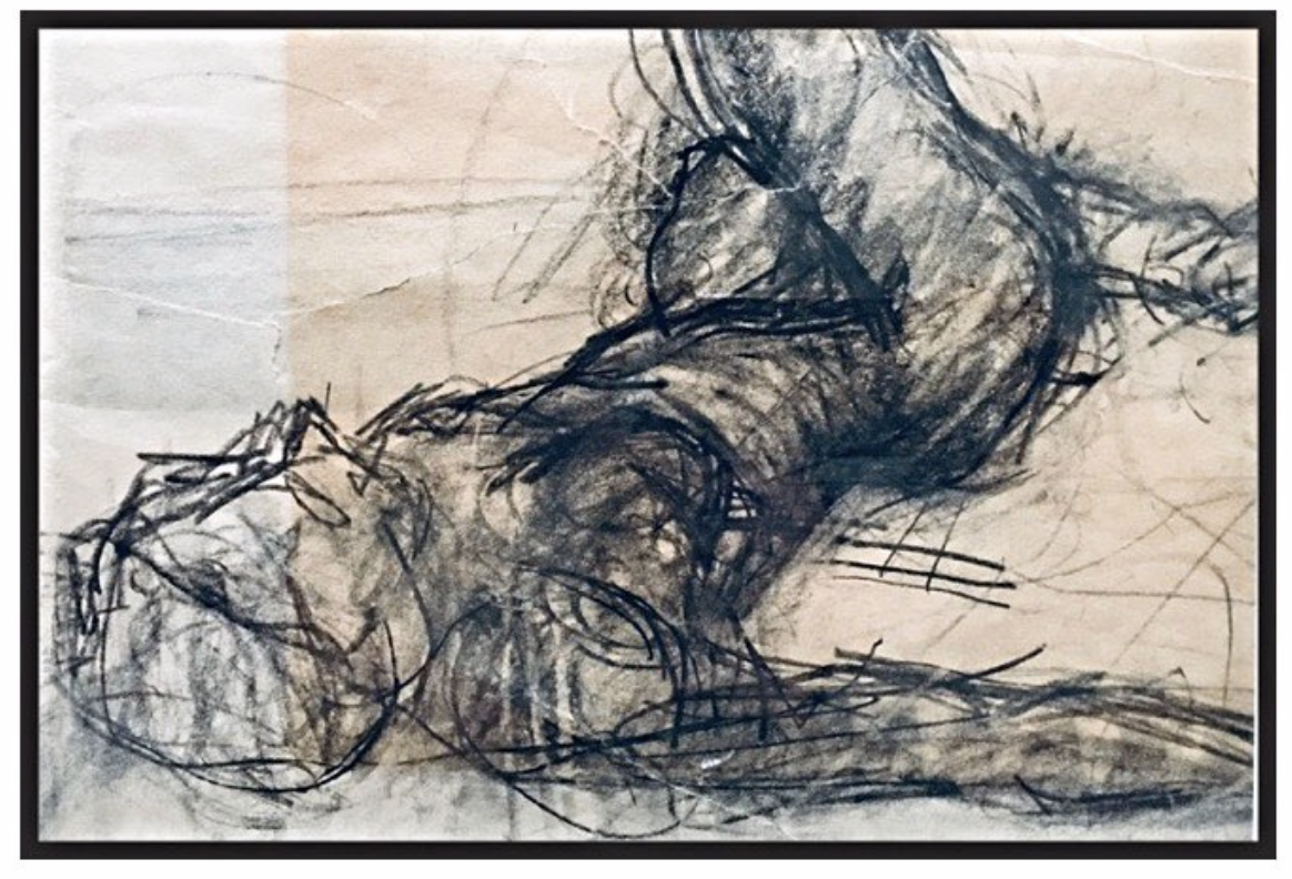 Charcoal Nude painting by Laura Genovese